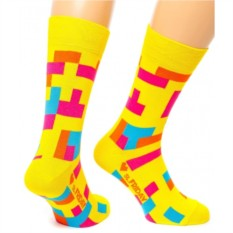 Желтые носки Friday Tetris
