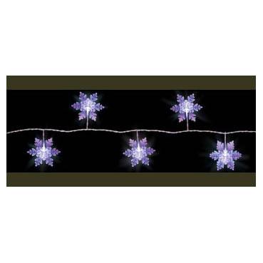Электрогирлянда LED-ламп «Снежинки»