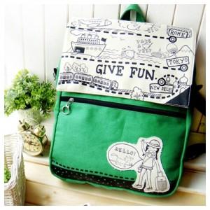 Рюкзак Give fun (зеленый)