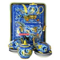 Набор  с художественной росписью Кружево с чайным сервизом