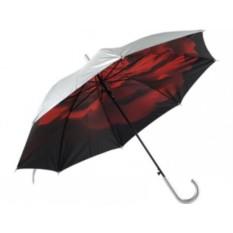 Полуавтоматический двухслойный зонт-трость «Роза»