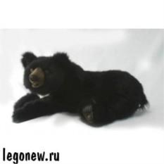 Мягкая игрушка Черный медвежонок лежащий от Hansa