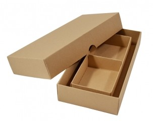 Коробка крышка-дно с ложементом для 2-х кусочков мыла