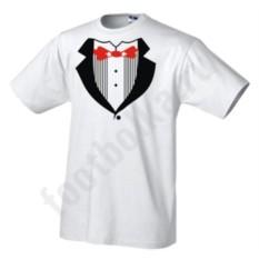 Мужская футболка Белый смокинг