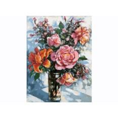 Картины по номерам «Натюрморт с розами»
