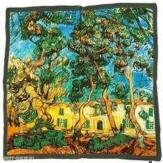 Платок Деревья в саду больницы (Ван Гог)
