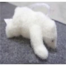 Елочная игрушка Белый медвежонок