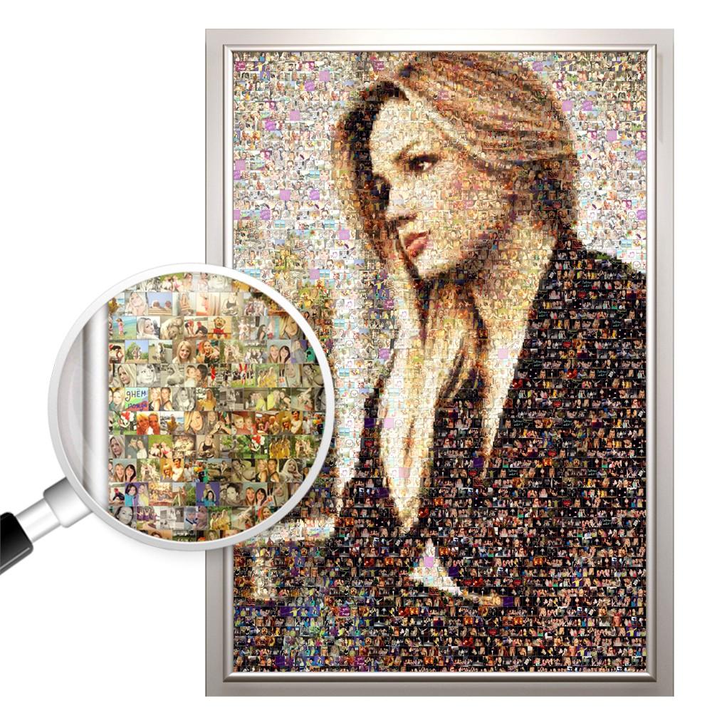 Фотомозаика из ваших фото, 100х150 см