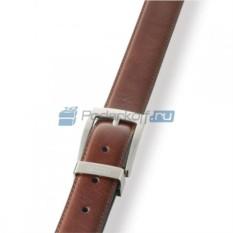 Классический коричневый ремень из глянцевой кожи
