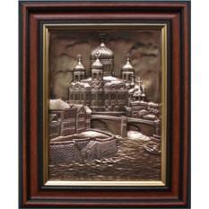 Картина из металла Храм Христа Спасителя