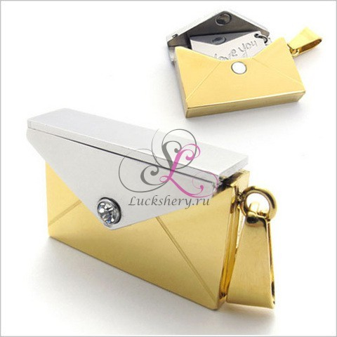 Кулон-послание Письмо любви