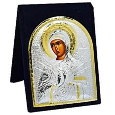 Маленькая серебряная икона Божьей матери Семистрельная икона