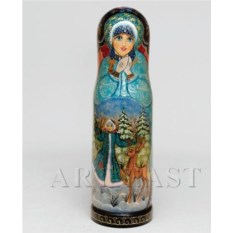 Футляр для бутылки Снегурочка с оленем