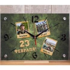 Настенные часы «С Днём защитника Отечества!»