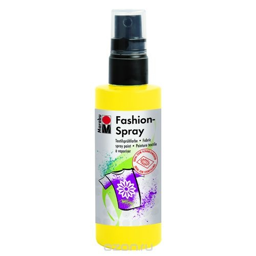 Краска-спрей для текстиля Marabu Fashion Spray, цвет: желтый (220), 100 мл