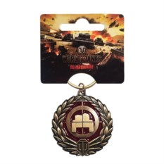 Металлический брелок World of Tanks Танкист-снайпер