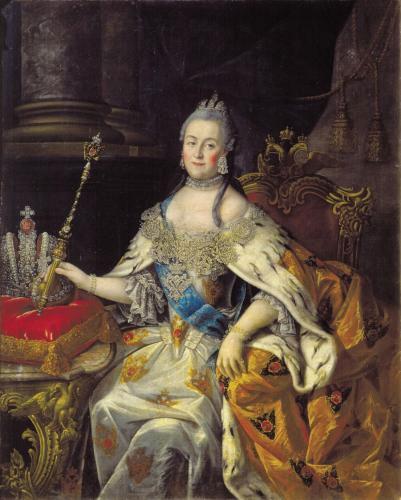 Репродукция картины Антропова «Портрет Екатерины II»