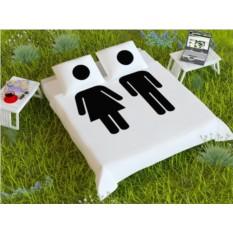 Комплект постельного белья Man and Woman