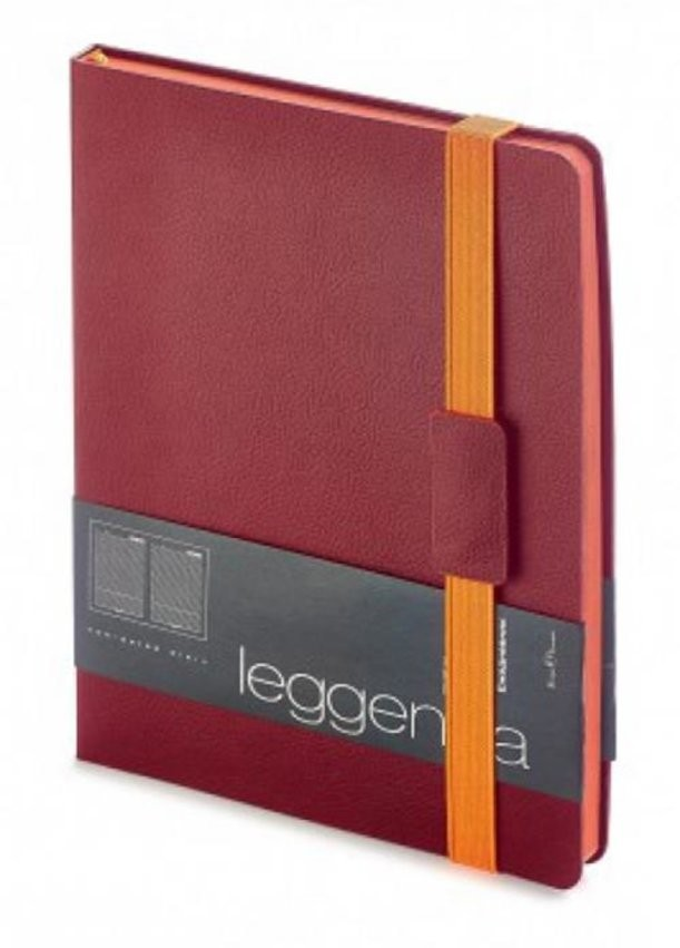 Бордовый недатированный ежедневник Leggenda B5