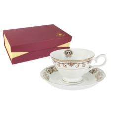 Чайный набор из 12 предметов Версаче золотой Emerald