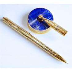 Позолоченная ручка на лазурите
