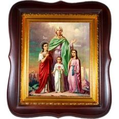 Вера, Надежда, Любовь и мать их София. Икона на холсте