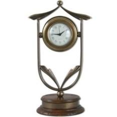 Настольные часы бронзового цвета