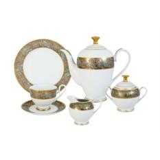 Чайный фарфоровый сервиз из 23 предметов Розовый берег