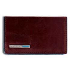 Коричневый футляр для визиток Piquadro Blue Square