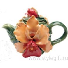 Фарфоровый чайник Орхидея