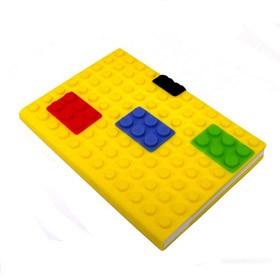 Блокнот lego, желтый
