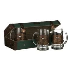 Набор из 3 стаканов в ларце Для троих