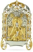 Серебр. настольная икона с образом Державной Божьей матери
