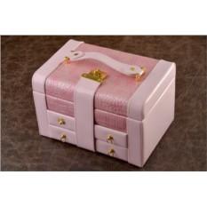 Шкатулка для ювелирных украшений. Коллекция Eclat (розовый)