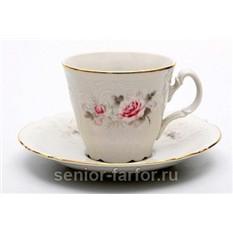 Набор для чая Thun Роза серая на 6 персон