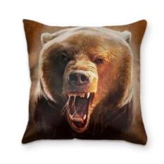 Подушка с 3D принтом Медведь