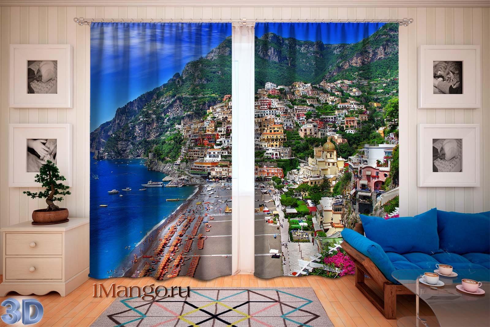 Фотошторы Итальянское побережье