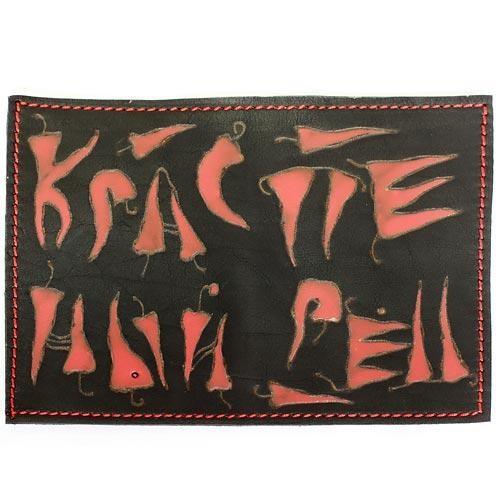 Обложка кожаная на паспорт ручной работы