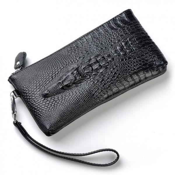 Черное портмоне Wild Alligator