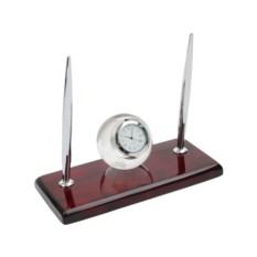 Настольный прибор Магнат с часами и ручками