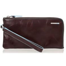 Коричневый портмоне-клатч на молнии Piquadro Blue Square