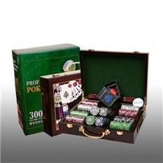Покер в деревянном кейсе, 300 фишек