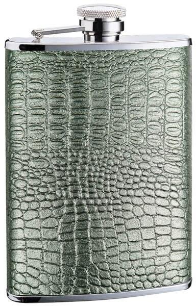 Фляга серебряная рептилия, кожа, D-Pro, 0,24 л.S.QUIRE TB08-SR