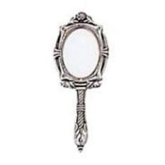 Лакированное зеркало с ручкой