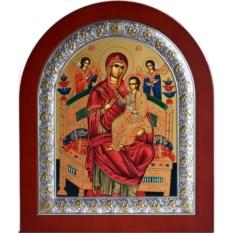 Икона Божьей Матери в серебряной раме Всецарица