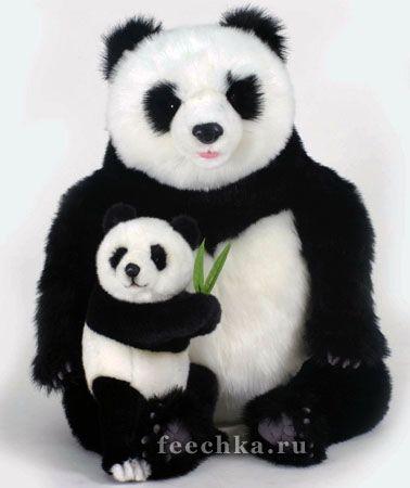 Мягкая игрушка Панда с медвежонком, Hansa