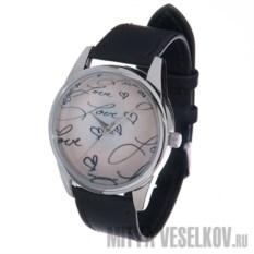 Часы Mitya Veselkov Love на розовом циферблате