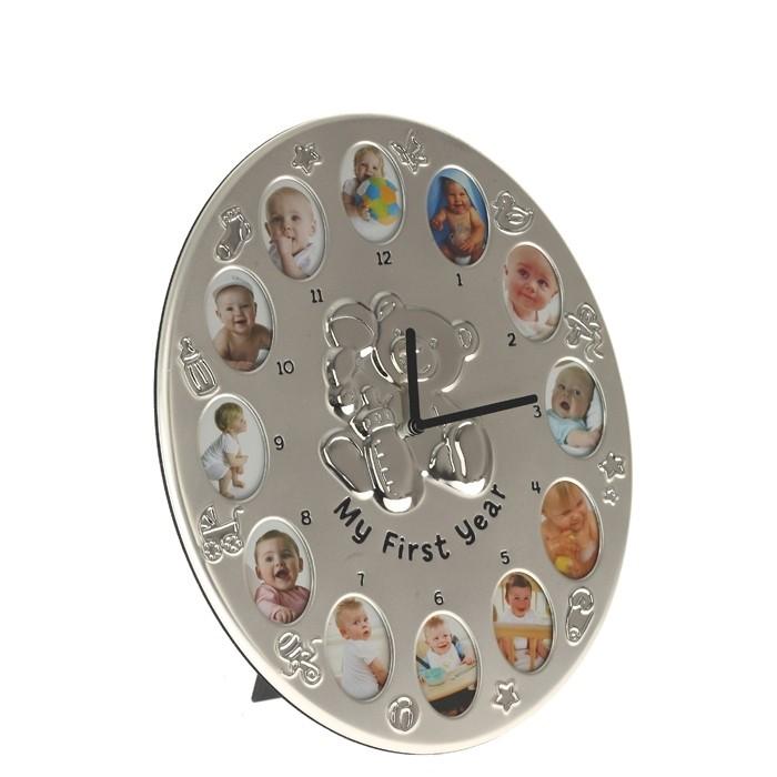 """Детские часы-фоторамки """"Мой первый год"""""""