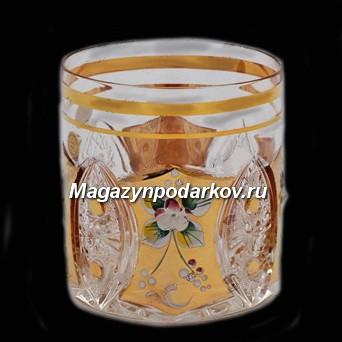 Набор 6 стаканов 330 мл Bohemia Яхами, золото
