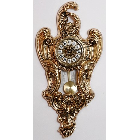 Часы с маятником бронзовые настенные
